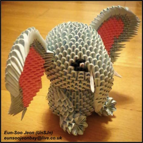 3d Origami Elephant - 3d modular origami elephant side view by unsjn on deviantart