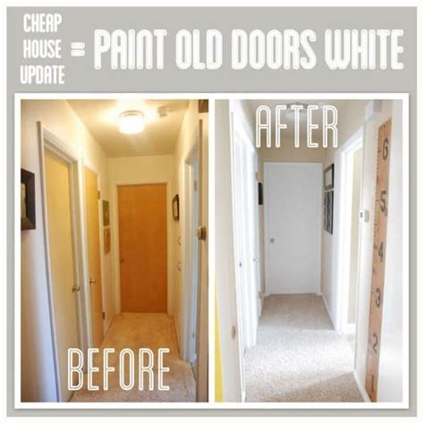 Painting Stained Wood Trim Hallway Transformation With Painted Trim And Doors