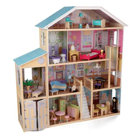 doll house play set kidkraft majestic mansion dollhouse play set 65252 the home depot