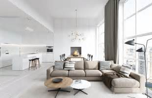 White Home Interiors by 25 Modern Living Rooms With Cool Clean Lines
