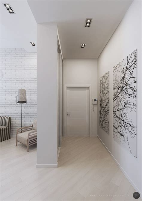 foyer ideas for apartments artistic wall painting in the with grey wall painting