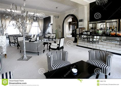 Black Dining Room Chair luxury cafe in expensive hotel stock photo image 18851730