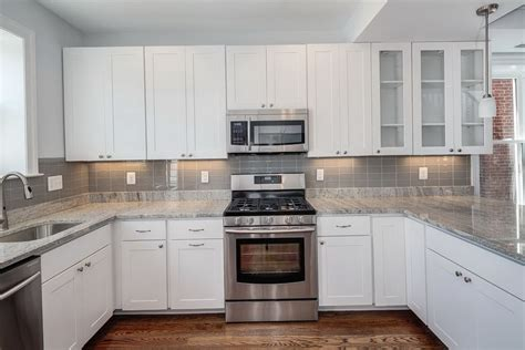 White Kitchen Tile Backsplash Ideas by Kitchen Tile Backsplash Ideas With Oak Cabinets Home