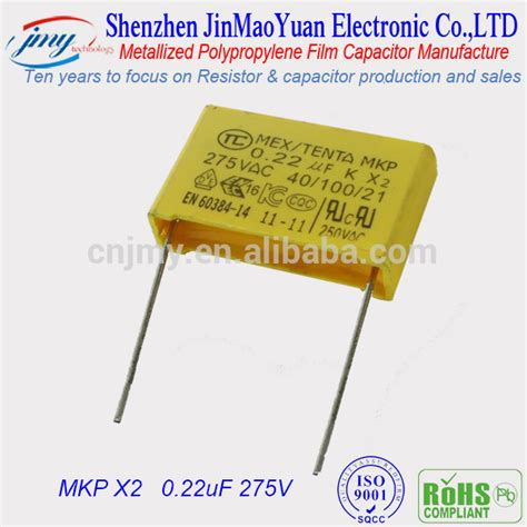 capacitors manufacturers wholesale top quality 0 33uf 275v mkp x2 thin capacitor manufacturers alibaba