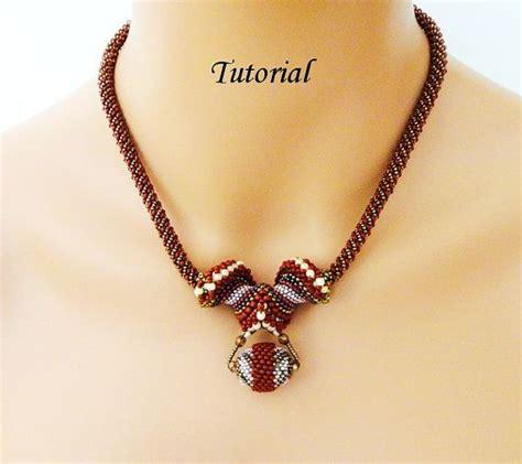 bead jewelry tutorials pdf for beadweaving necklace beading tutorial beadwoven