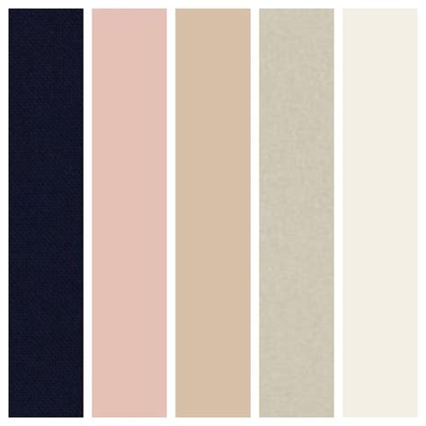 blush colors navy blue chagne ivory and blush our wedding