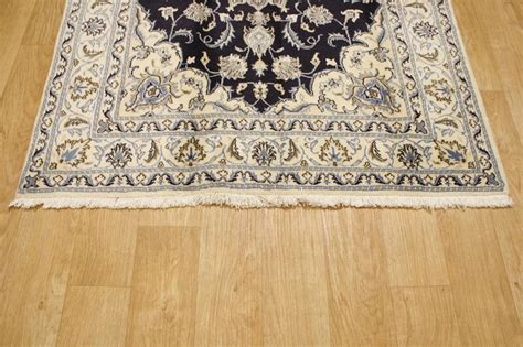 Navy Blue Area Rug 5x7 Wool Silk Navy Blue 5x7 Isfahan Nain Area Rug Carpet New Rugsource1