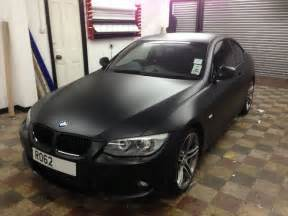 bmw 320 d wrapped matte satin black by wrapping cars