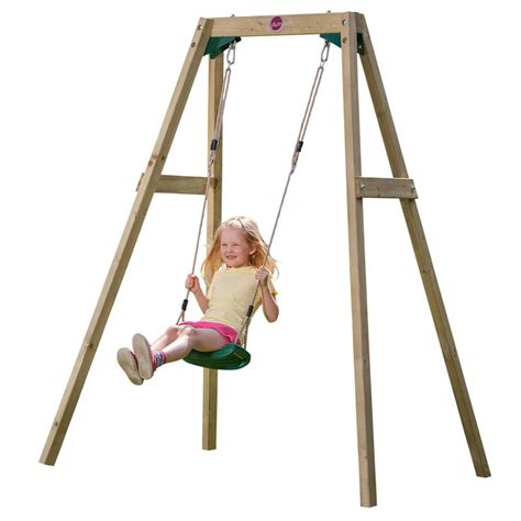 swinging for singles plum wooden single swing only 163 96 00 outdoor play equipment