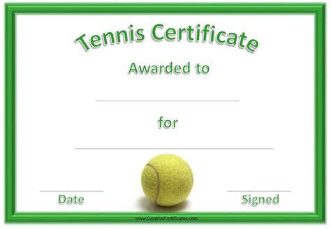 gift certificate template free tennis free voucher