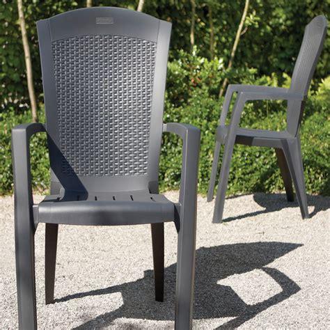 Allibert Patio Furniture by Pair Of Allibert Graphite Grey Rattan Style Minnesota