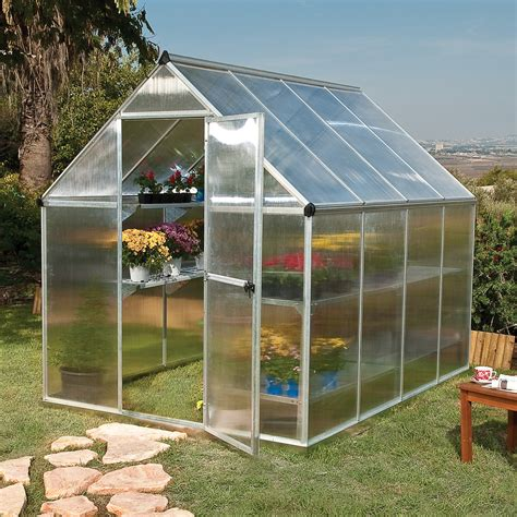 backyard greenhouses canada palram canada 701549 mythos twin wall greenhouse lowe s