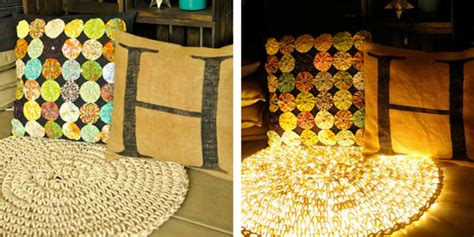 lighted crochet rug crochet everyday rope lighting to get this amazing rug design simplemost