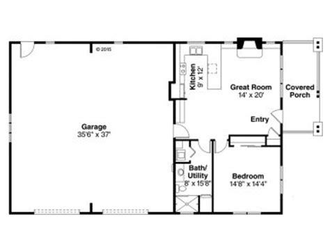 1 1 2 Story Floor Plans garage apartment plans 1 story garage apartment plan