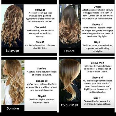 hair color terms you should 25 best ideas about hair color techniques on