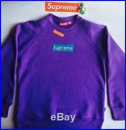 Produk Brand Happy Supreme Canada 12kg supreme box logo crewneck sweater sweatshirt purple size m
