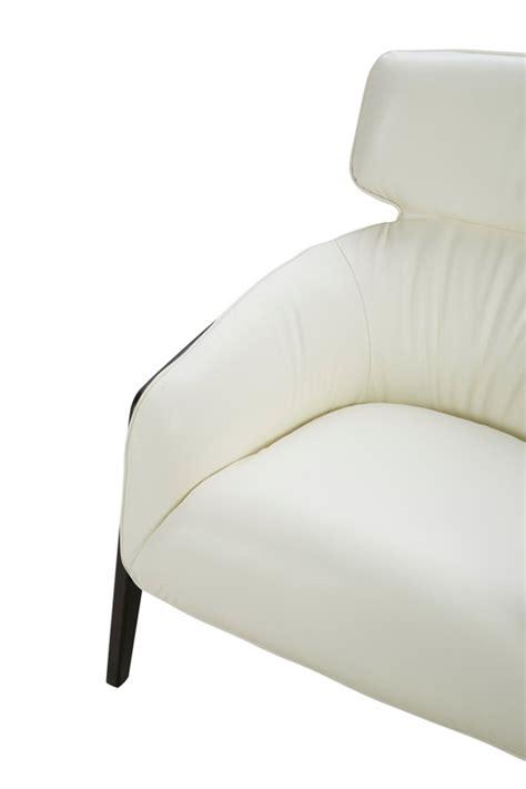 White Leather Accent Chair Modern White Leather Accent Chair With Wood Legs Virginia Virginia Vig Divani Casa