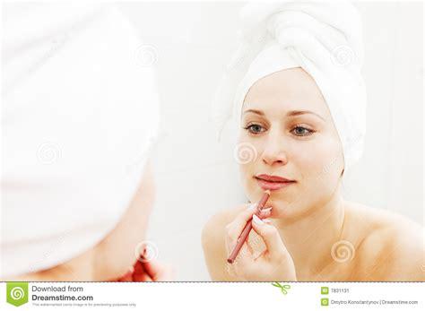 After Shower by Doing Make Up After Shower Stock Image Image 7831131
