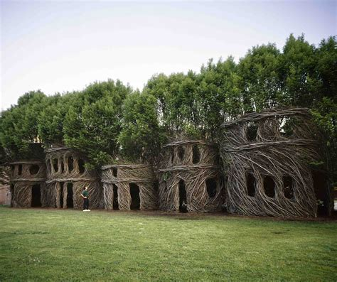 Small Houses That Look Like Castles by The Mysterious Creatures Of Patrick Dougherty The