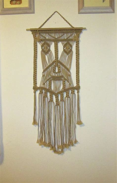 Macrame Home Decor Handmade Macrame Wall Hanging Mask Macrame Home Decor