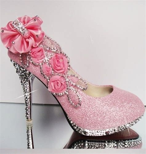 pretty pink high heels beautiful pink decorated heels pink shoes boots