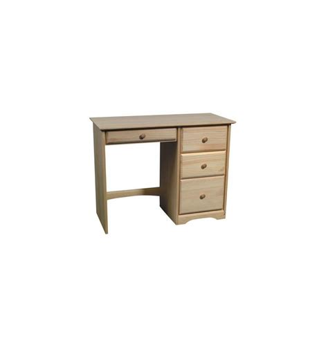 38 inch afc shaker 4 drawer desk simply woods