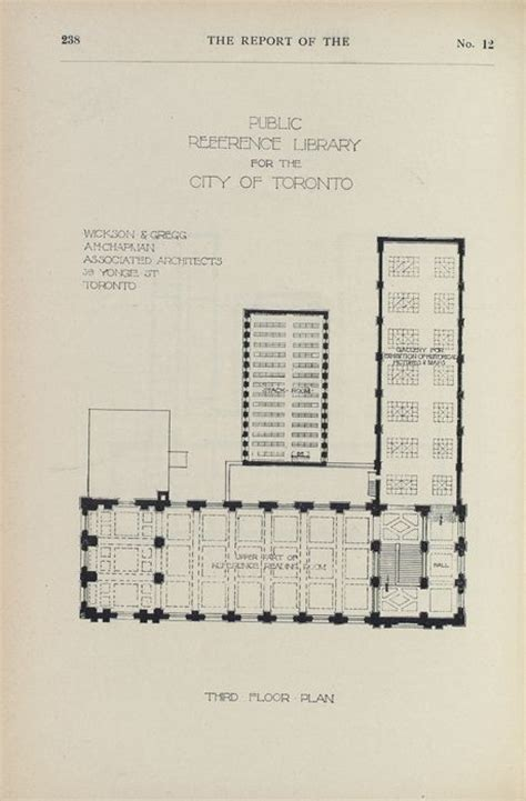 carnegie floor plan central library 3rd floor plan interior architectural drawing carnegie library toronto