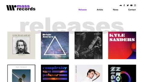 Music Website Templates Wix Record Label Website Template