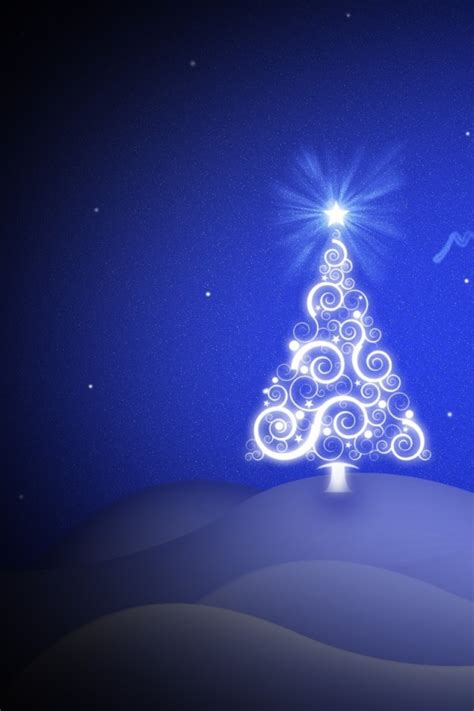 christmas ipod wallpapers tree vision iphone 4 4s ipod wallpaper freechristmaswallpapers net