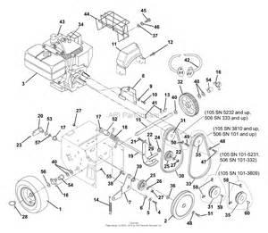 ariens 932105 000101 st8526le 8 5hp tec electric 26 quot blower parts diagram for engine