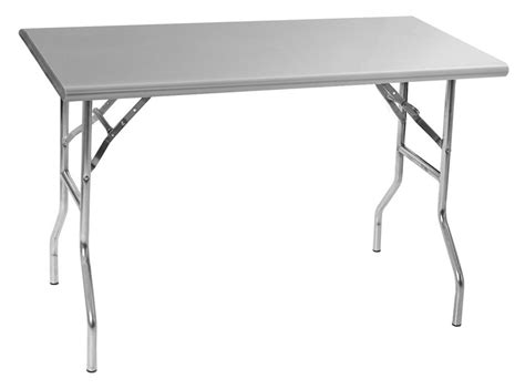 Folding Stainless Steel Table with Lok N Fold Stainless Steel Tables
