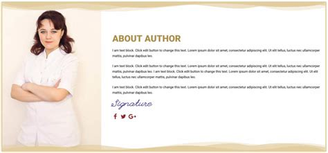 about the author template free landing page elementor template for ebook cakewp