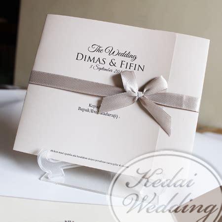 undangan pernikahan simpel tapi elegan