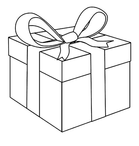 printable gift coloring page white boxes box with bow coloring page clipart gift bow