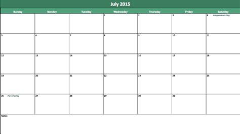 template of july 2015 july 2015 calendar 2015 july calendar
