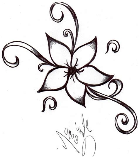 A Drawing Of A Flower by How To Draw A Flower Www Imgkid The Image Kid