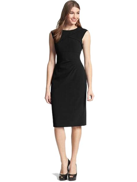 crepe dress ruched bodycon elegant work office dress