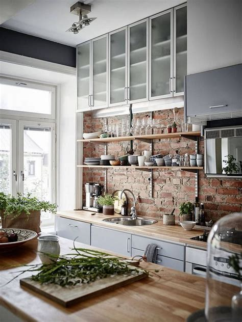 brick kitchen backsplash ideas with traditional ambiance and eye 30 trendy brick accent wall ideas for every room digsdigs