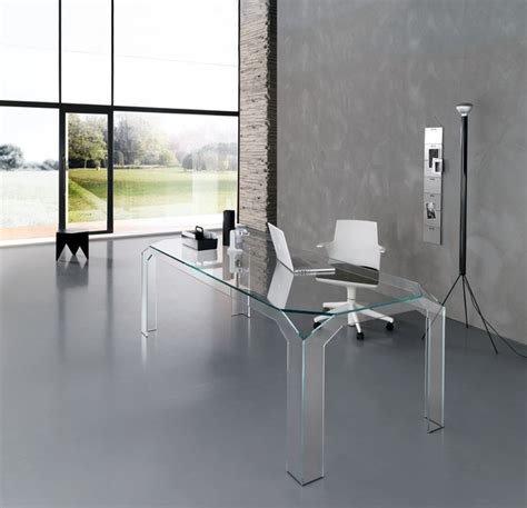 modern glass office desks nervi glass office desk by tonelli design