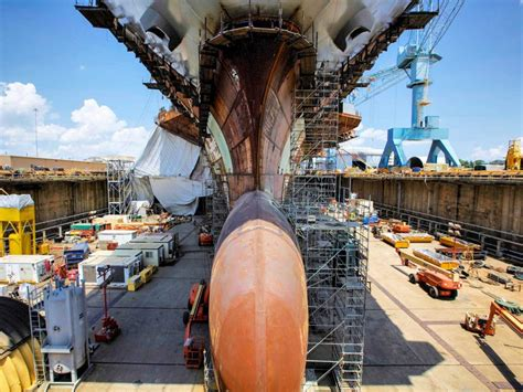 metal shark boats salary uss gerald r ford check out the construction of the most