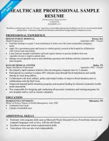 Healthcare Resume Template by Sle Healthcare Resume Myideasbedroom