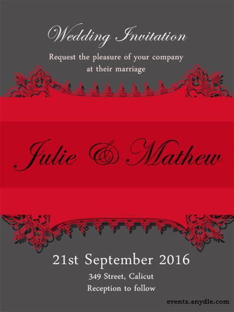 trendy wedding invitation cards free wedding invitation cards festival around the