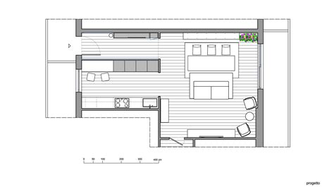 libreria progetto cucina a vista o separata dal soggiorno progetto