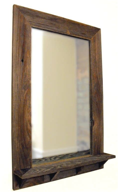 wooden bathroom mirror with shelf sensational idea wooden bathroom mirror with shelf best 25
