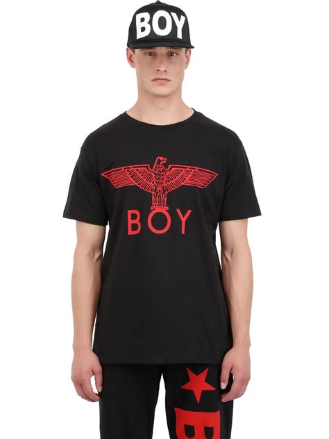 Printed Boy boy eagle printed cotton jersey t shirt in for lyst