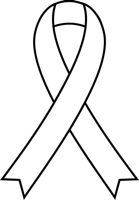 coloring page of breast cancer ribbon breast cancer ribbon coloring sheet cliparts co