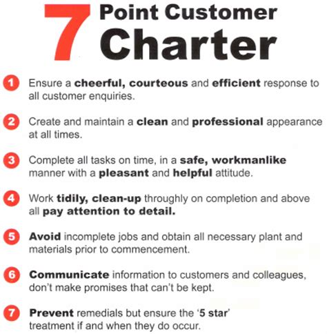 client service charter template stories and ramblings 7 point customer charter