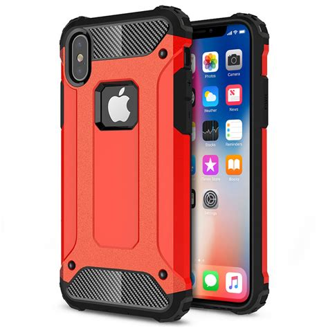 Apple Casing Iphone X I Phone X 8g Carbon Karbon defender shockproof apple iphone x