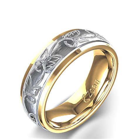 leaf pattern mens ring the most expensive wedding ring leaf design wedding rings