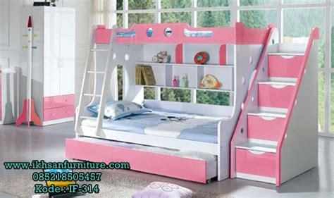 Tempat Tidur Napoli Frozen tempat tidur anak perempuan tingkat set kamar anak perempuan ikhsan furniture jepara